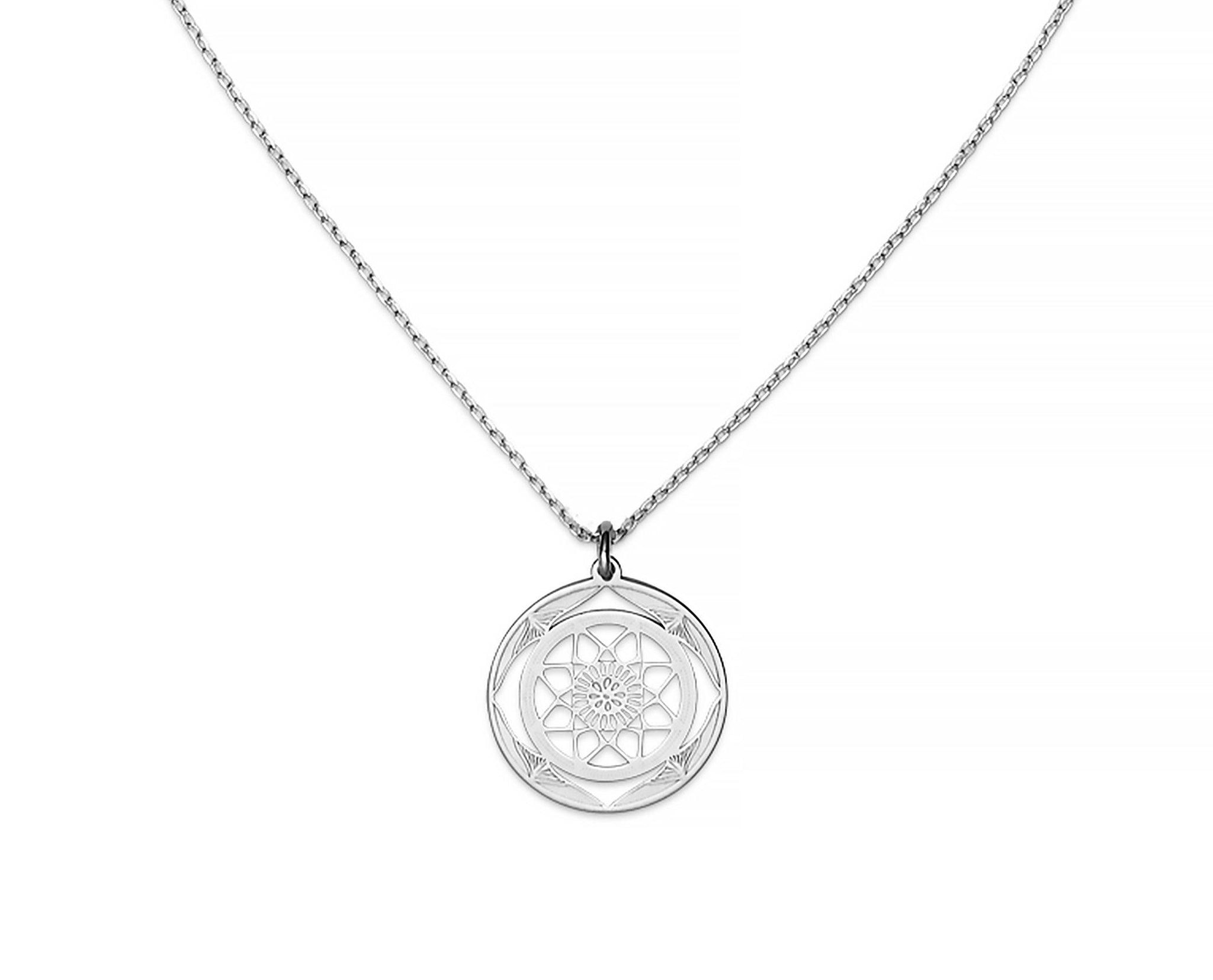 Shield Mandala Necklace - InclusiveJewelry