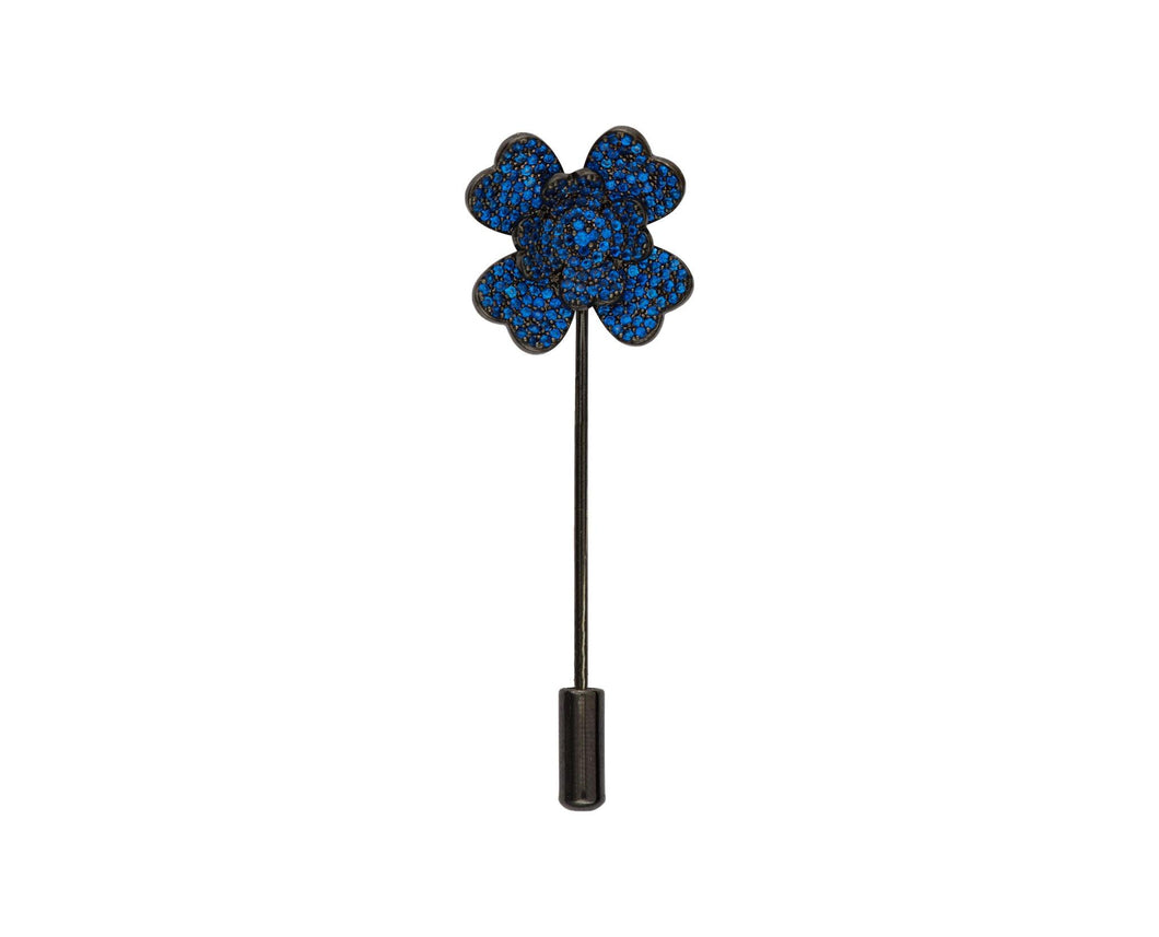 Blue Flower Lapel Pin - InclusiveJewelry