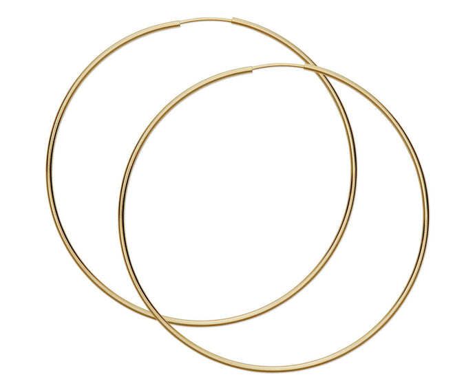 Oversized Thin Hoops - InclusiveJewelry