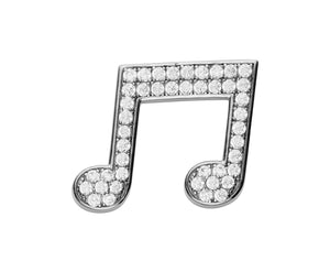 Music Note Lapel Pin - InclusiveJewelry