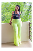 Load image into Gallery viewer, Neon green sheer swim pants
