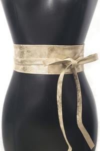 Faux a Leather Wrap Belt