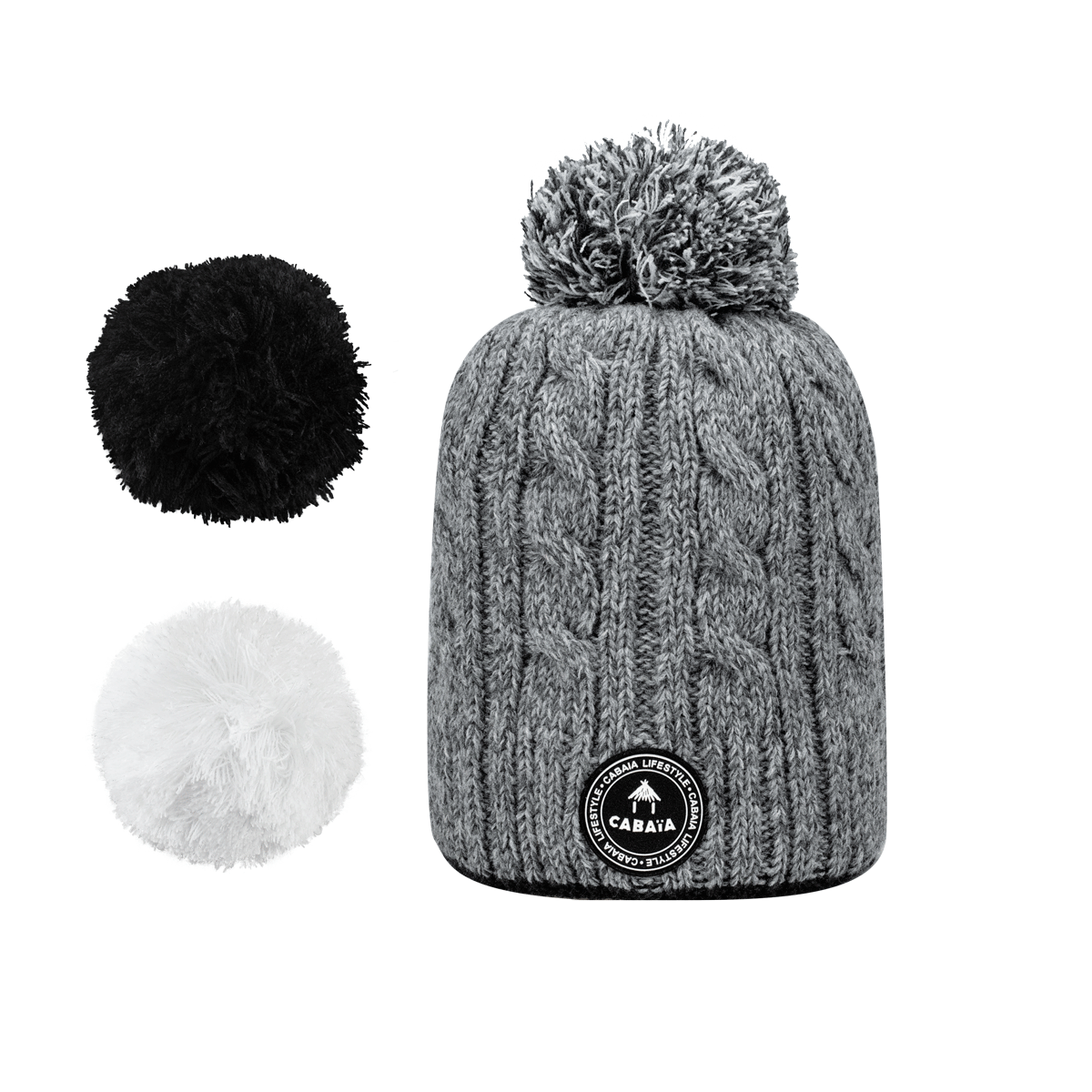 Hat Creamy Gin Grey Melanged Polar, Cabaïa