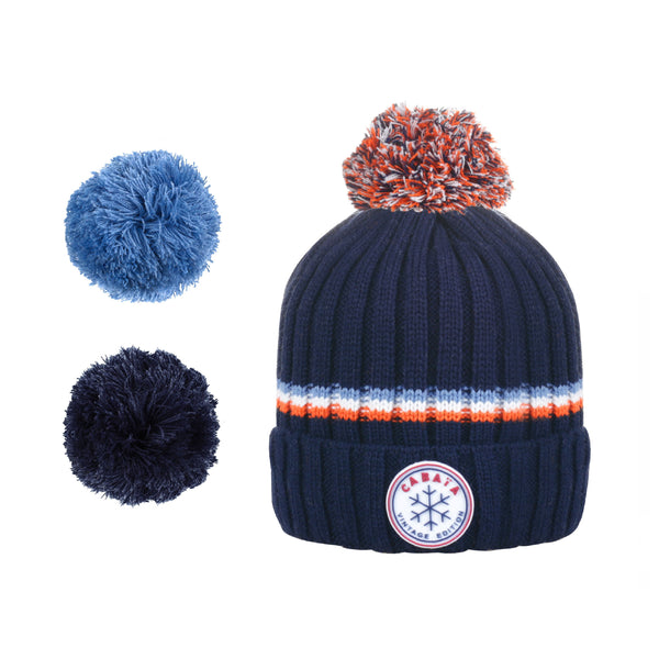 Load image into Gallery viewer, bonnet cabaia pompon français homme femme made in france navy