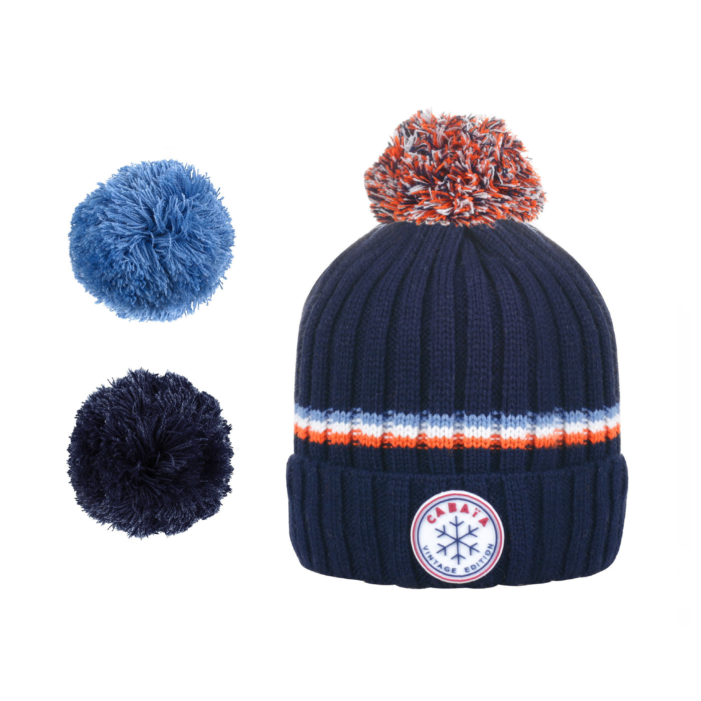 Mütze cabaia pompon français homme femme made in france navy