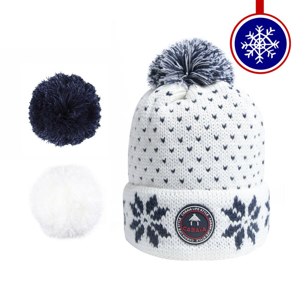 Load image into Gallery viewer, bonnet cabaia pompon français homme femme made in france