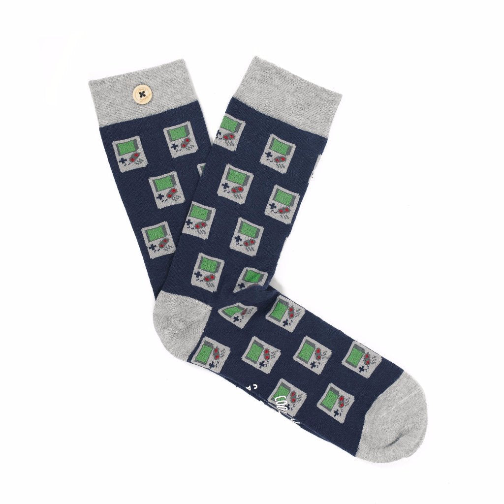 chaussettes homme jolie game boy bouton imperdables