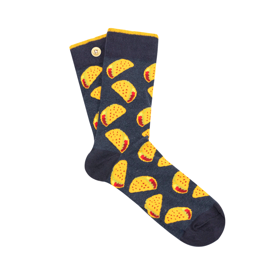 Men's inseparable socks with taco pattern