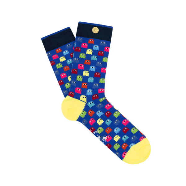 Load image into Gallery viewer, unlosable-socks-wood-button-men-41-46-socks20-deni-sok