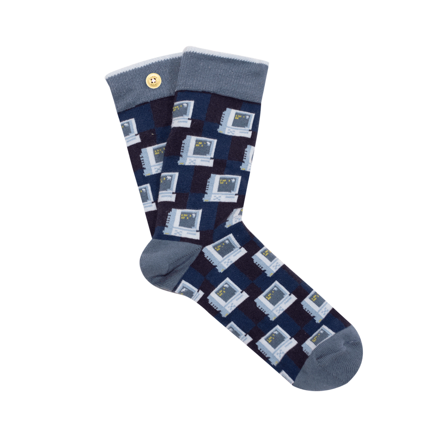 inseparable socks for men with computer pattern