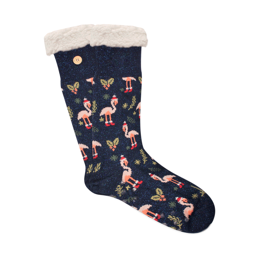 Stuffed socks lurex noel tropical