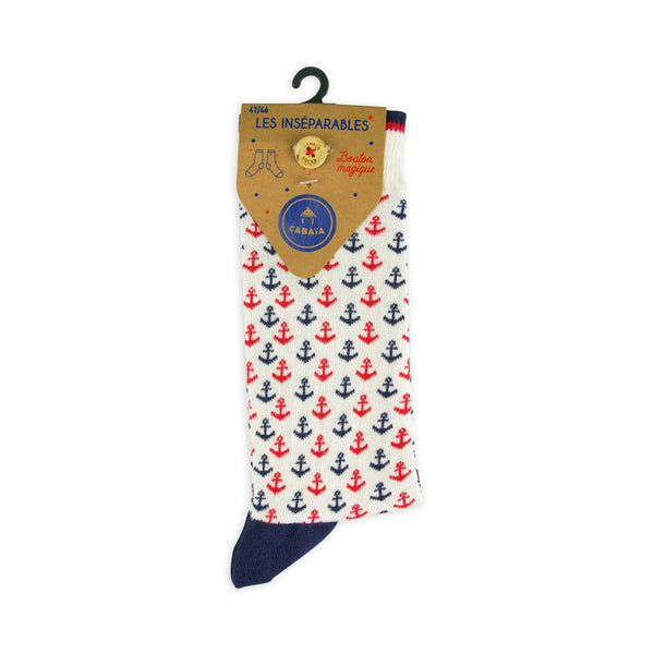Load image into Gallery viewer, bonnet chaussettes cabaia pompon français homme femme made in france