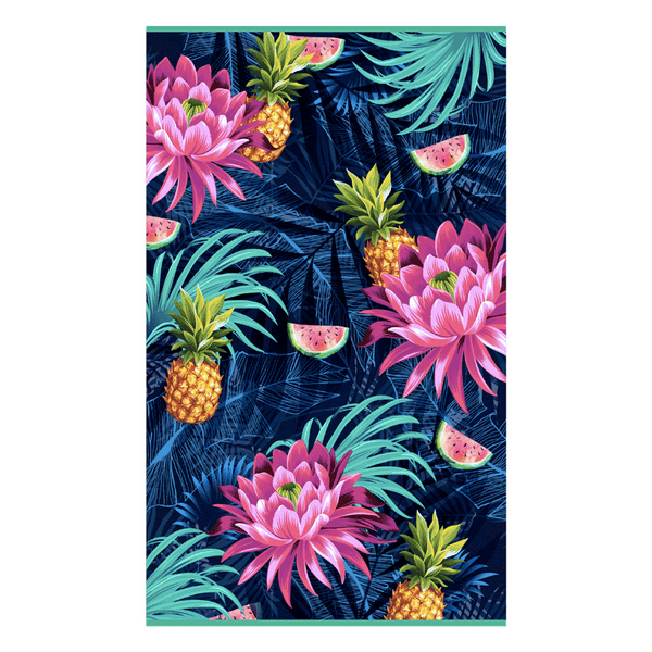 Load image into Gallery viewer, Rectangular towel with tropical print