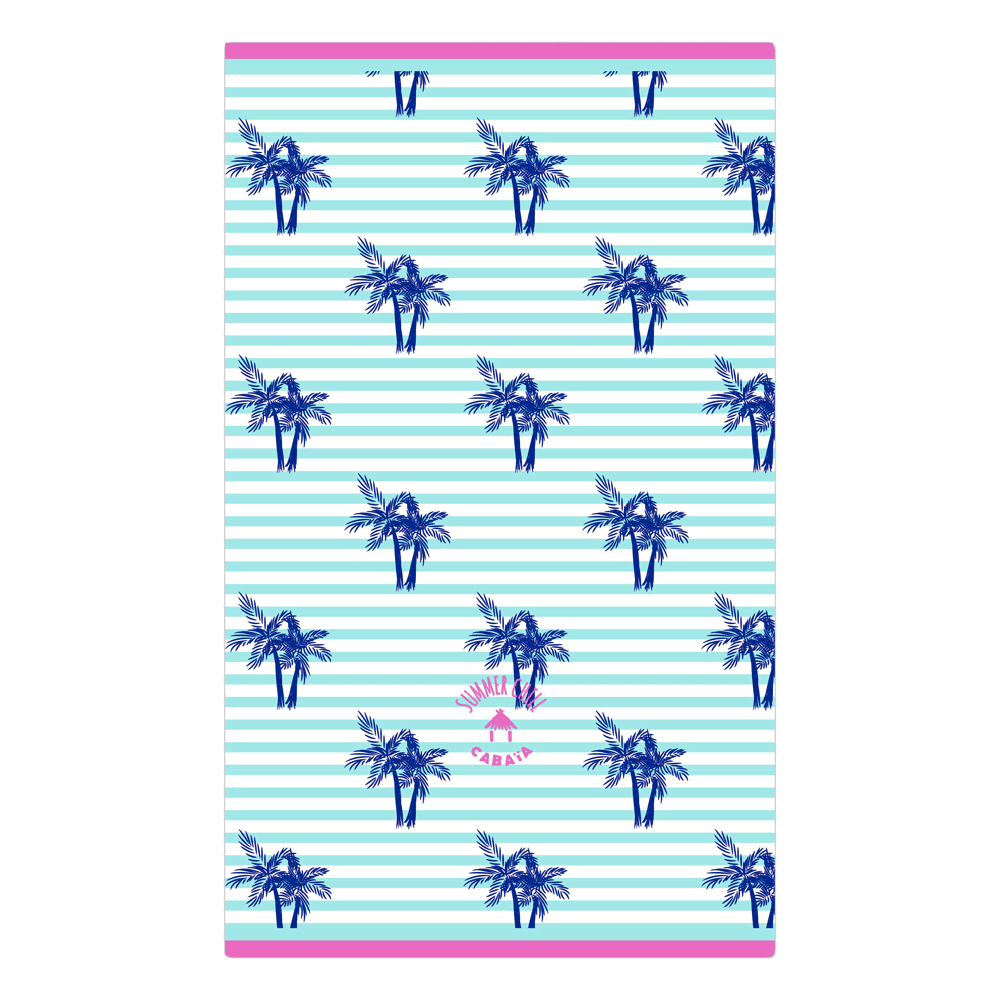 Rectangular towel with tree print