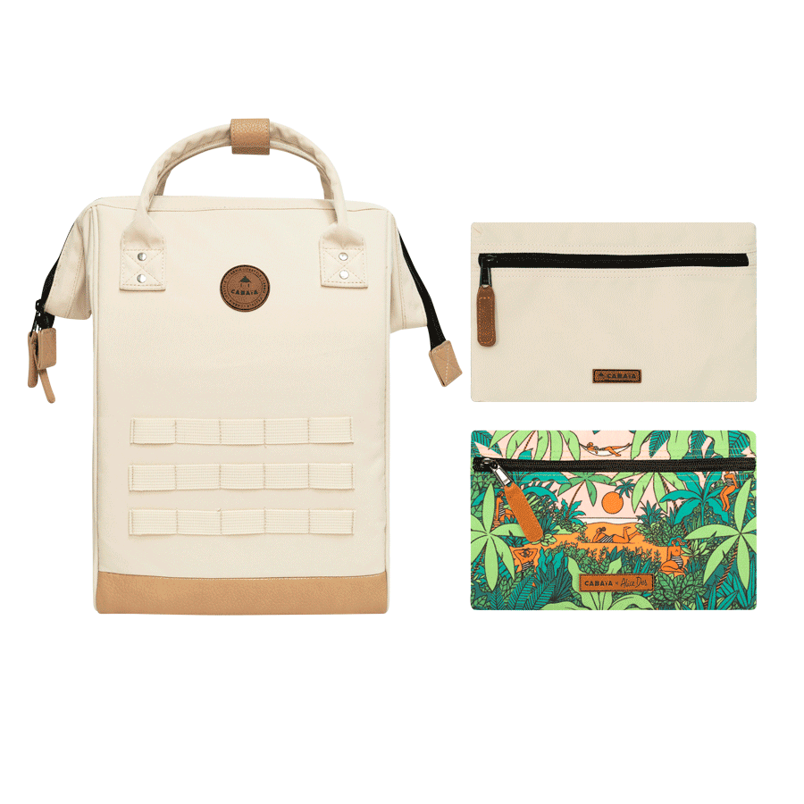 L'amour à la plage - Backpack - Medium - pocket designer