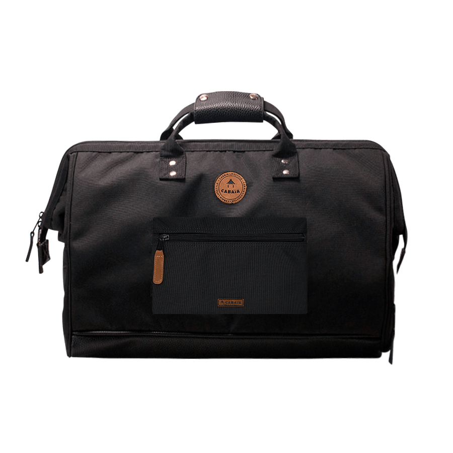 Berlin - Cabaia travel bag adapted to the aircraft cabin luggage, with its two interchangeable pockets and shoulder straps to carry it on your back.