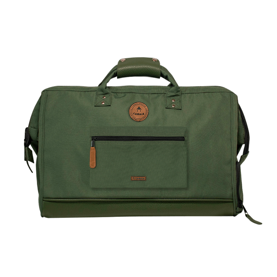 Seoul - Cabaia travel bag adapted to the aircraft cabin luggage, with its two interchangeable pockets and shoulder straps to carry it on your back.