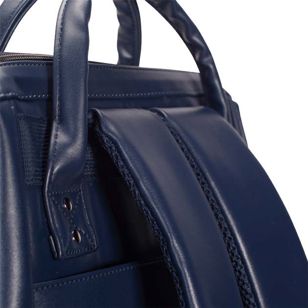Navy backpack Cabaïa Milan with his reinforced shoulder straps