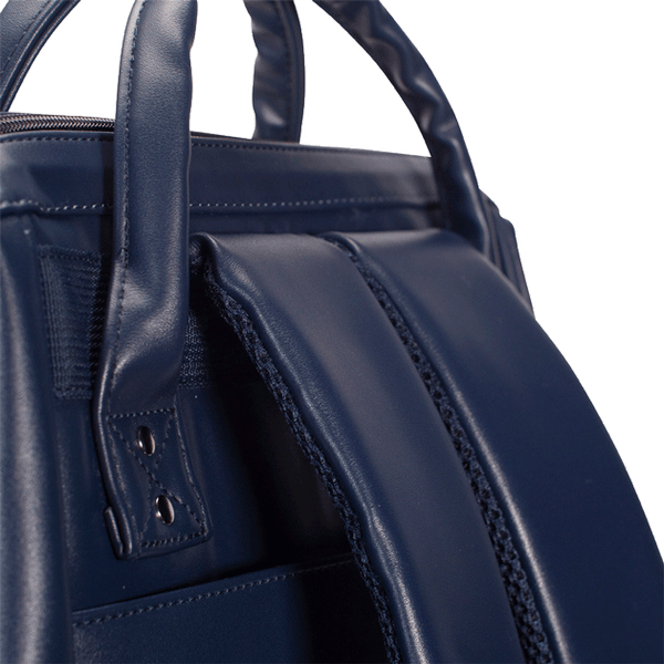 Load image into Gallery viewer, Navy backpack Cabaïa Milan with his reinforced shoulder straps