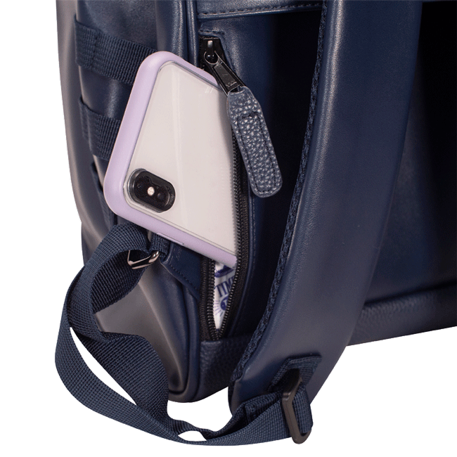 Backpack with secrete pocket to hide your phone