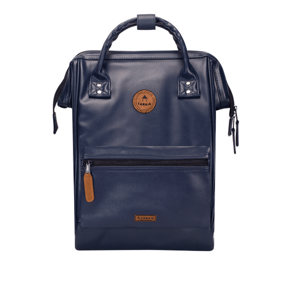 Load image into Gallery viewer, Navy backpack Cabaïa Milan with one of his two interchangeable pockets