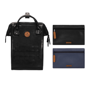 Black backpack Cabaïa Tokyo with two interchangeable pockets