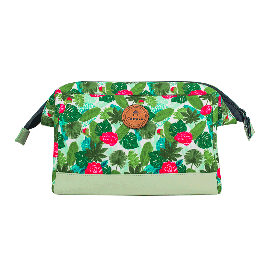 Shibuya - Travel Kit Cabaïa with tropical pattern to carry all your toiletries, handy storage and colourful waterproof fabric