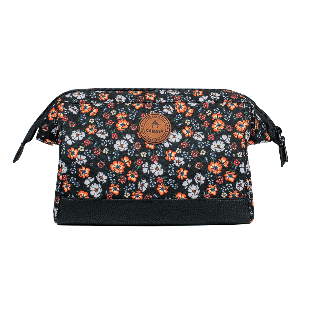 Via Toledo - Travel Kit Cabaïa to carry all your toiletries, handy storage and colourful waterproof fabric, flowers printed