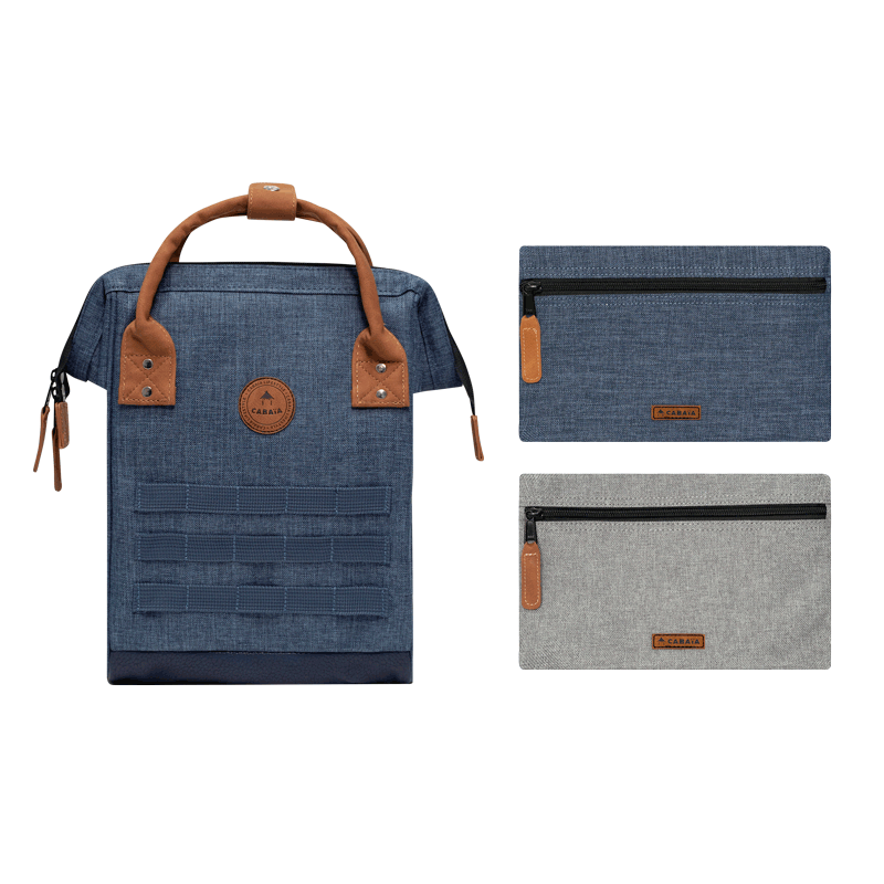 Backpacks medium Paris blue jean for men and women