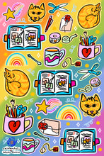Load image into Gallery viewer, Stationery Sticker Sheet