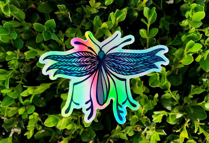 Holographic Dragonfly Sticker