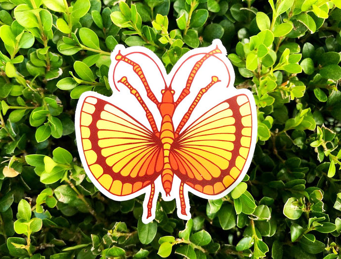 Flying Stick Bug Sticker