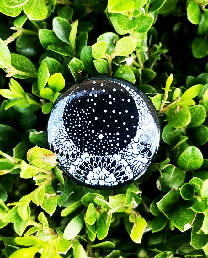 Crescent Moon Button