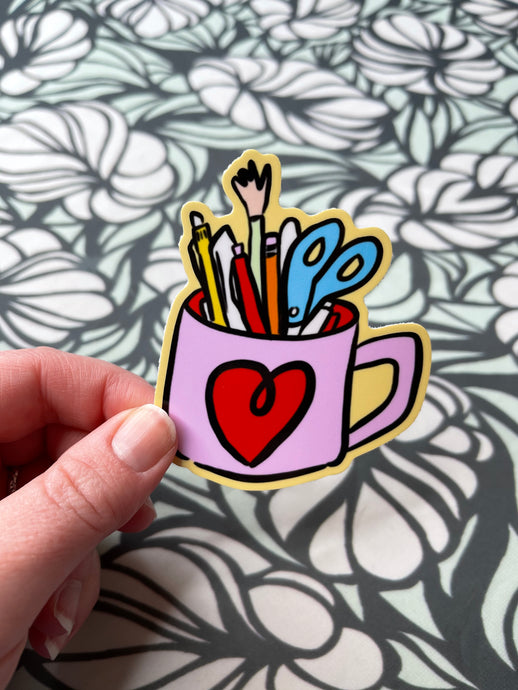 Pen Mug Sticker