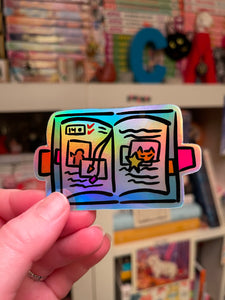Holographic Journal Sticker