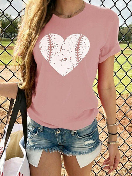 Heart Pattern Valentine's Day  Baseball Tee