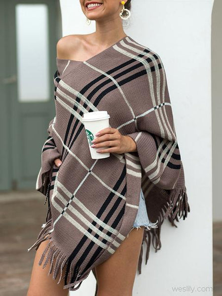 Striped Pullover V Neck Sweater