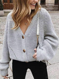 Button Knitted Loose Sweater Cardigan