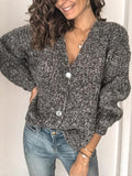 Buttoned Casual Loose Sweater Cardigan