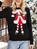 Christmas Embroidered Printed Sweater