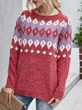 Christmas Pattern Knit Pullover Sweater