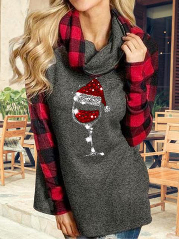 products/ChristmasWineGlassPlaidTurtleneckTop_1.jpg