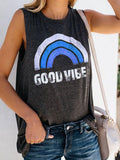 Good Vibes Knit Muscle Tank