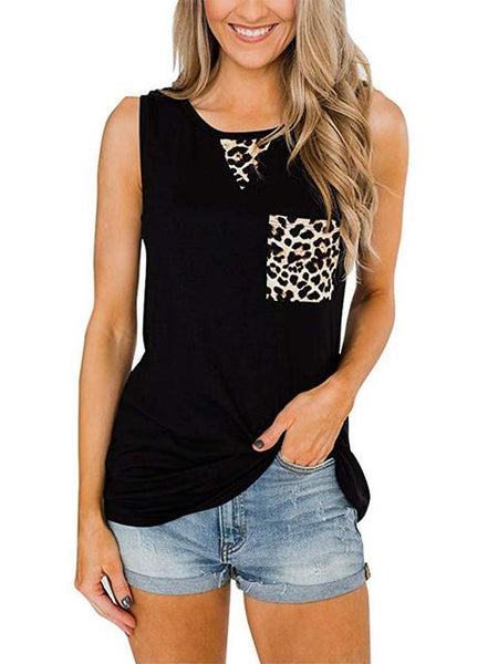 round-neck-leopard-stitching-sleeveless-top-gqt2701