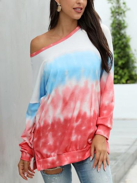 Gradient Tie-dye Long Sleeve Pullover