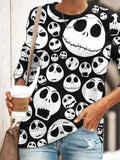 Halloween Fun Print Long Sleeve Pullover