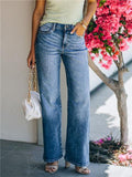 High Rise Straight Leg Flared Jeans