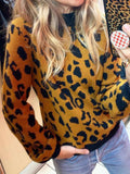 Leopard Pattern Casual Sweater
