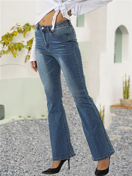 Loose Stretch Denim Side Leg Jeans