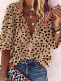 Polka Dot Printed Half Sleeve Blouse Shirt